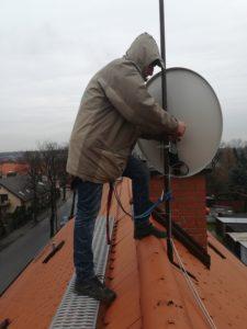 Bardzo precyzyjny montaż anten sat
