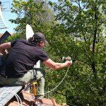 Ustawianie anteny w Rudzie Ślaskiej