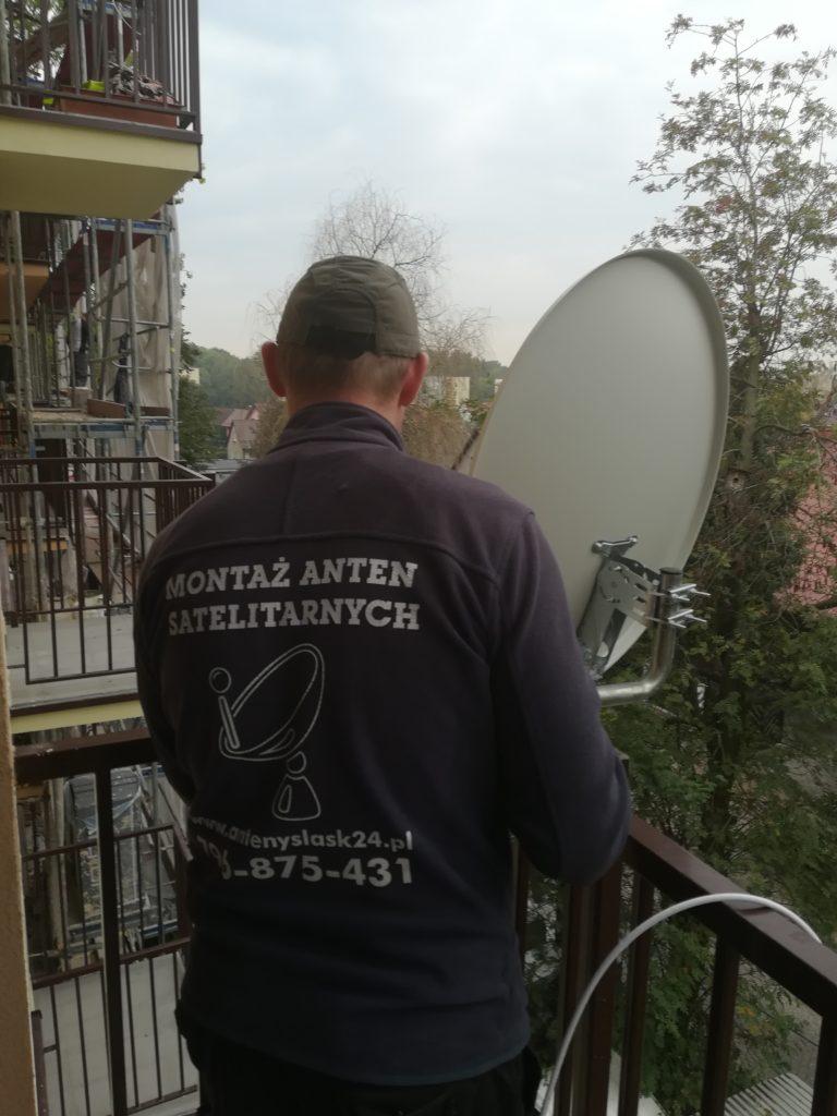 Montaż anteny na balkonie w Katowicach